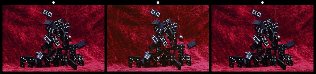 Domino Tower Crash by David W. Allen, Beaverton, OR USA